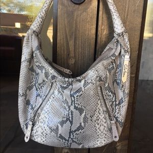 Cole Haan Python Embossed Purse